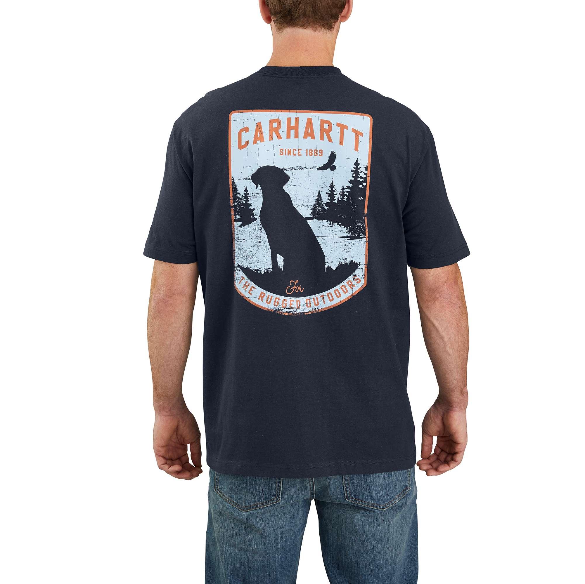 Carhartt Original Fit Heavyweight Short-Sleeve Pocket Dog Graphic T-Shirt
