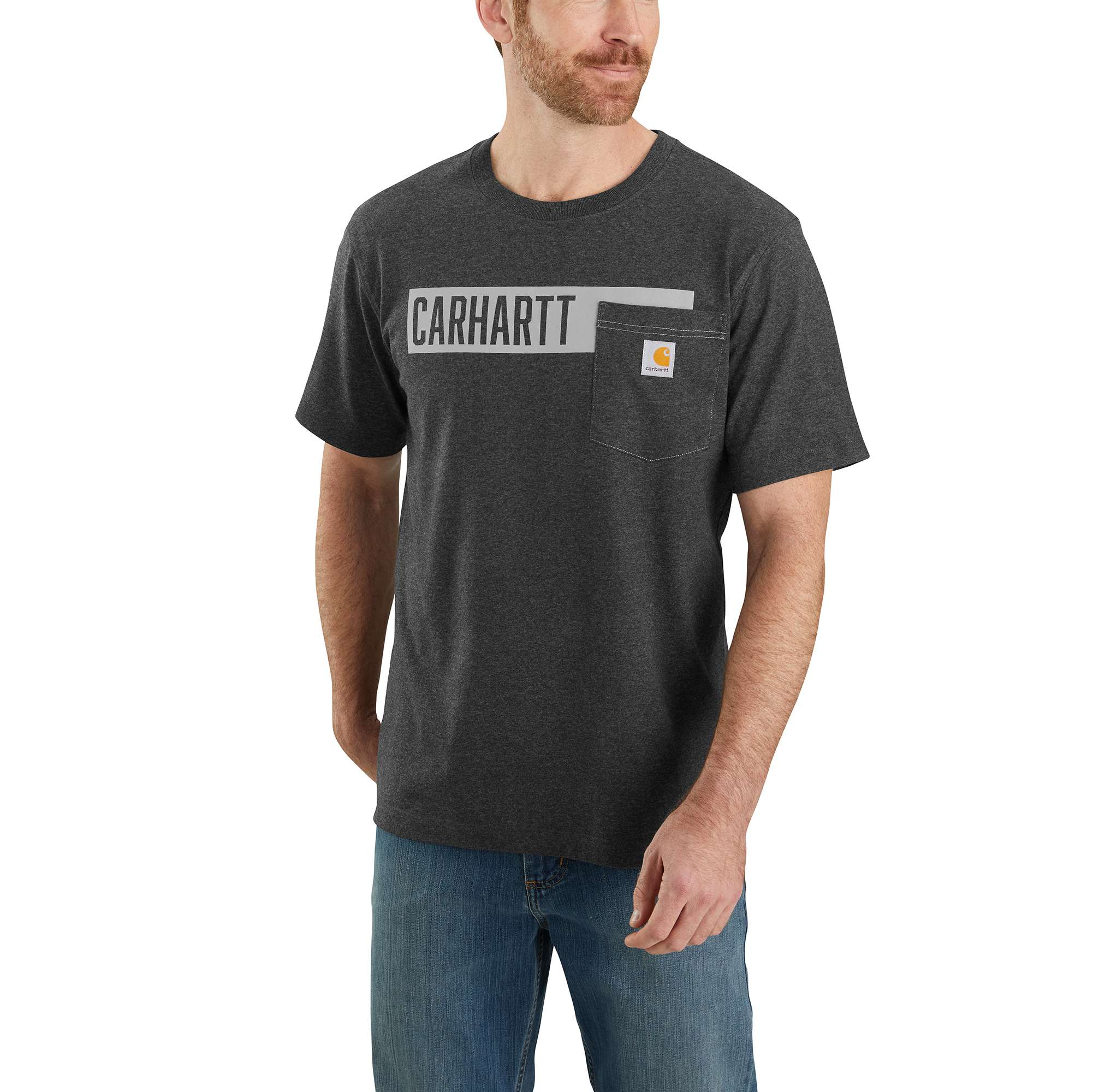 Carhartt Relaxed Fit Heavyweight Short-Sleeve Pocket Stripe Graphic T-Shirt