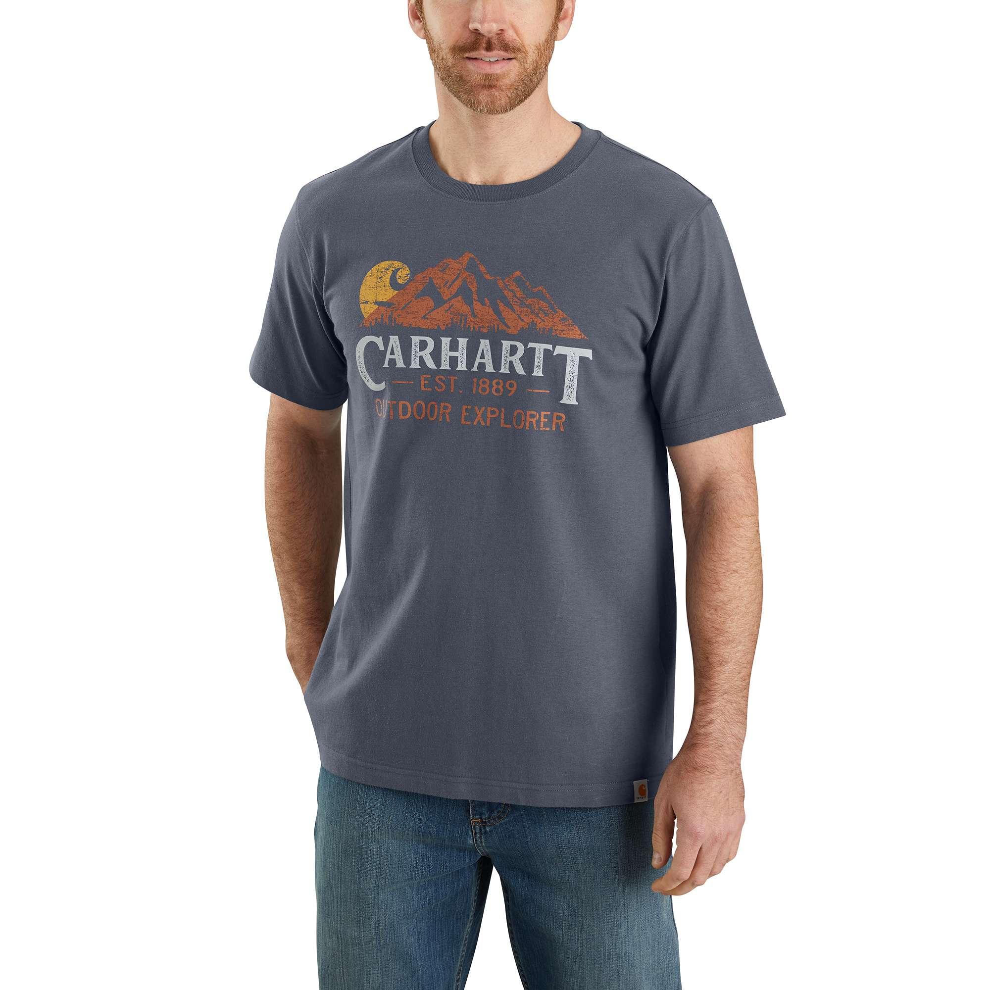 Carhartt Relaxed Fit Heavyweight Short-Sleeve Outdoor Explorer Graphic T-Shirt
