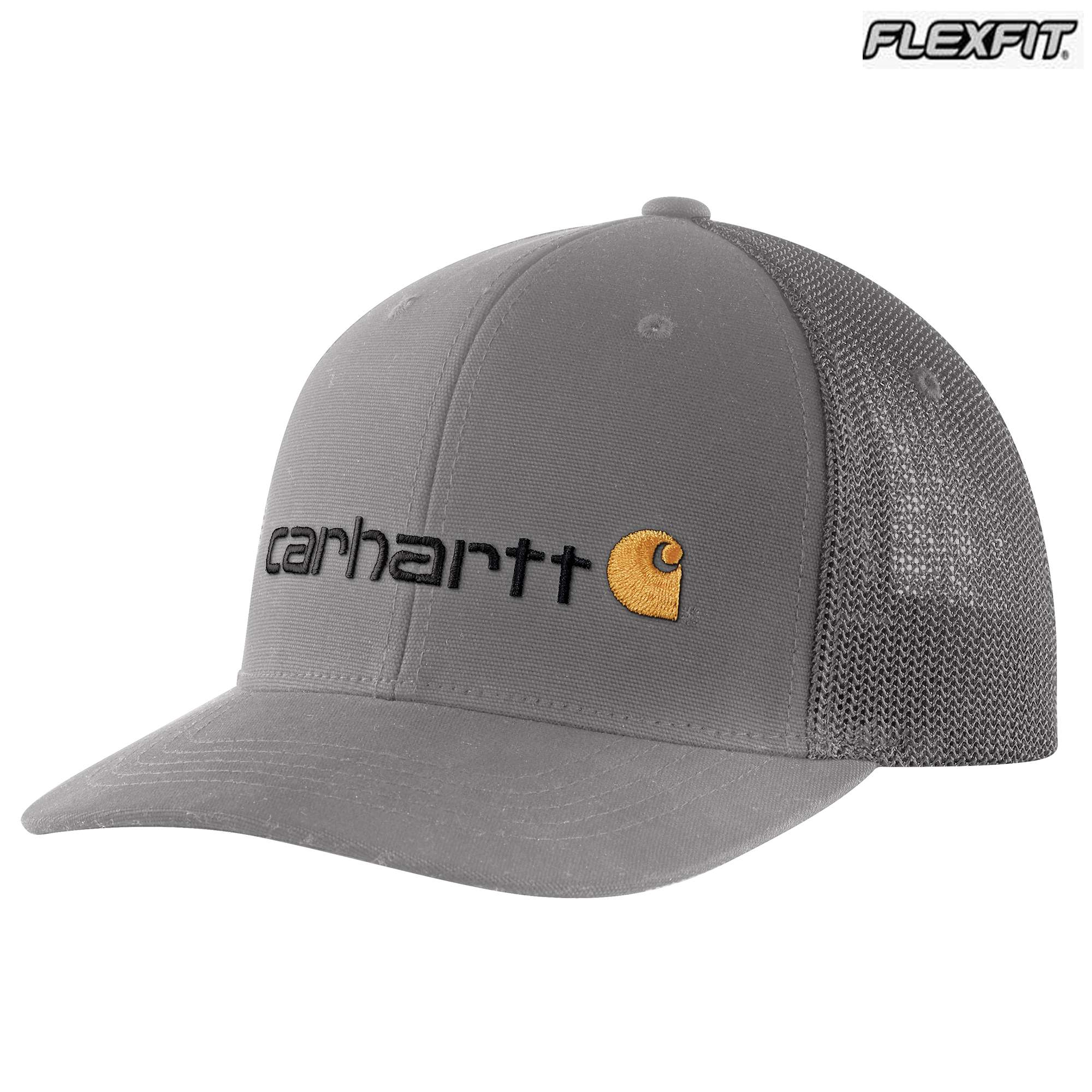 Carhartt Rugged Flex Canvas Mesh-Back Fitted Logo Graphic Cap