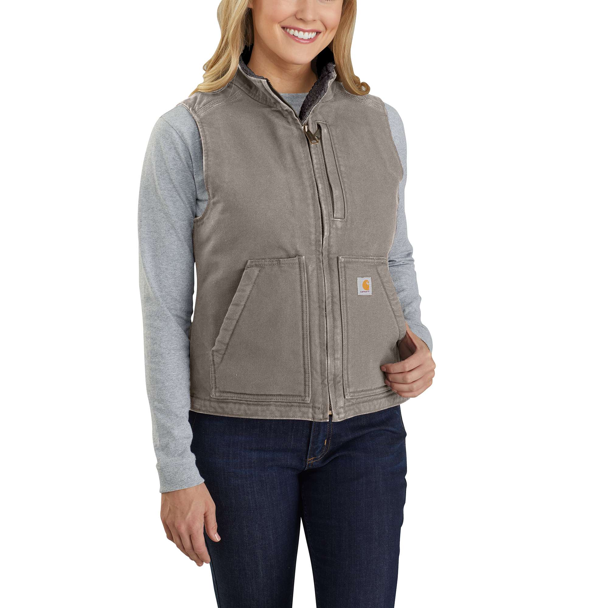 Carhartt Washed Duck Sherpa Lined Vest