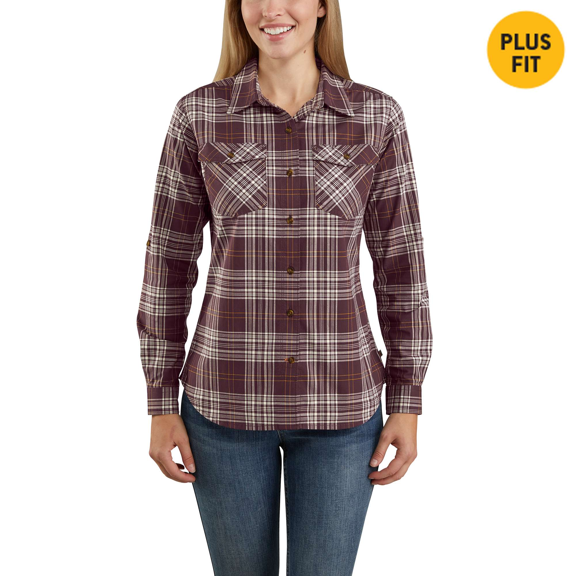 Carhartt Rugged Flex Slightly Fitted Long-Sleeve Plaid Shirt