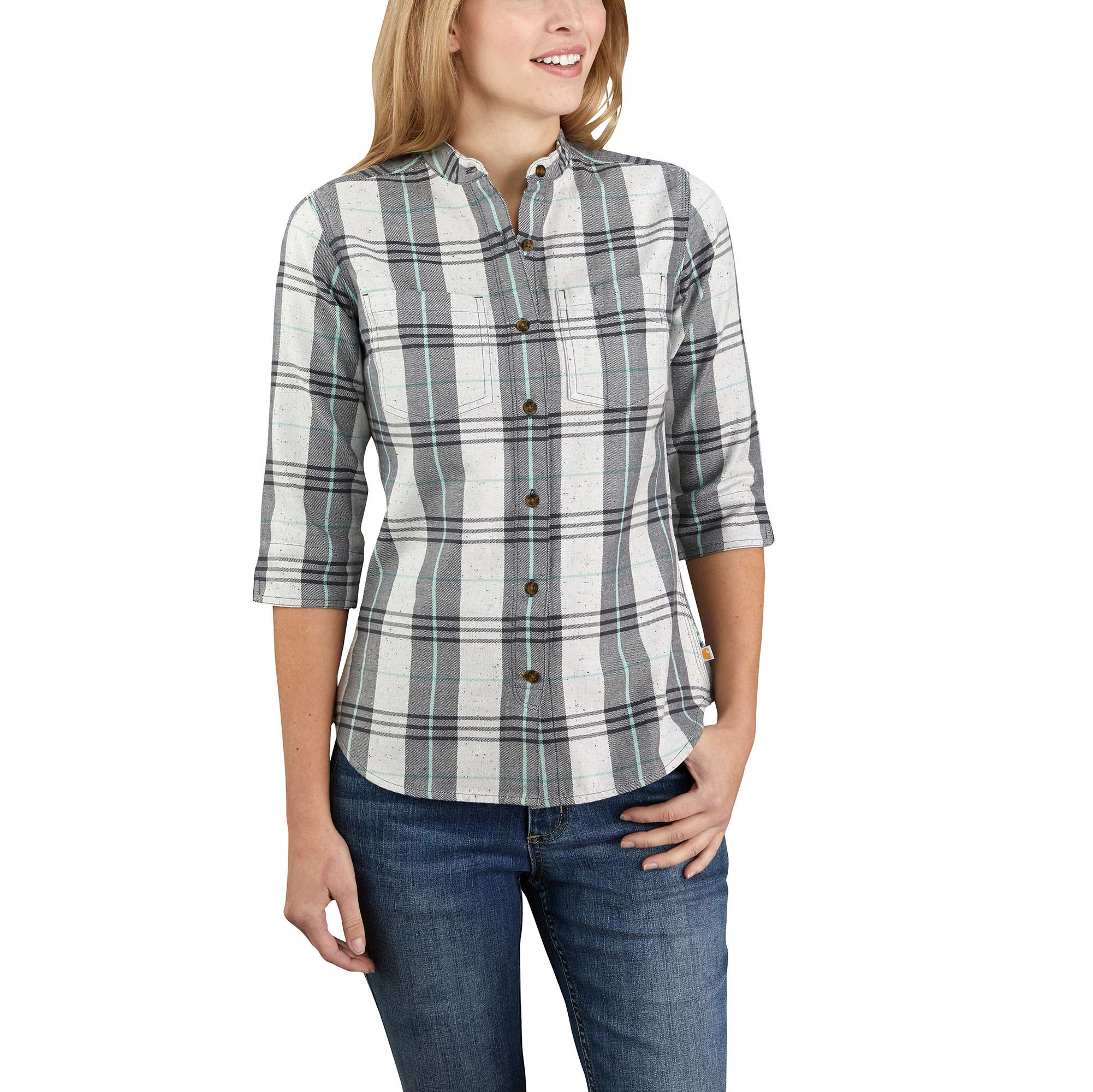 Relaxed Fit Midweight Plaid Shirt