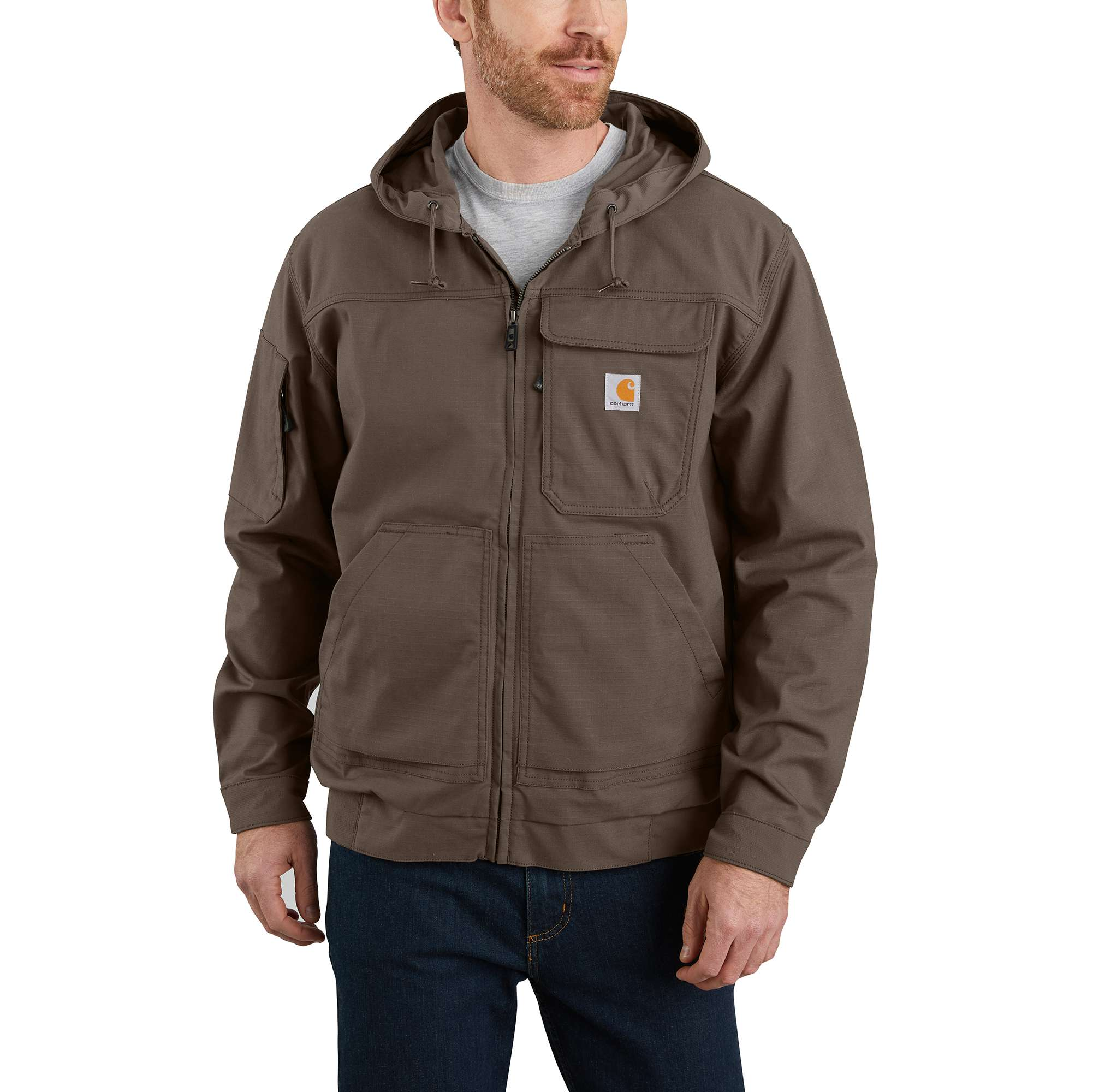 Carhartt Steel Rugged Flex Ripstop Hooded Active Jac