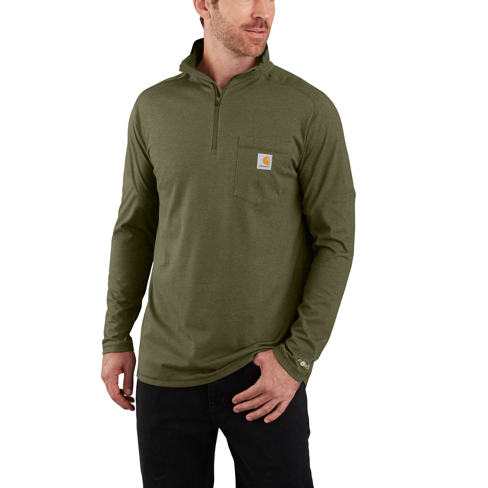 Carhartt Force Relaxed Fit Long-Sleeve Quarter-Zip Pocket T-Shirt
