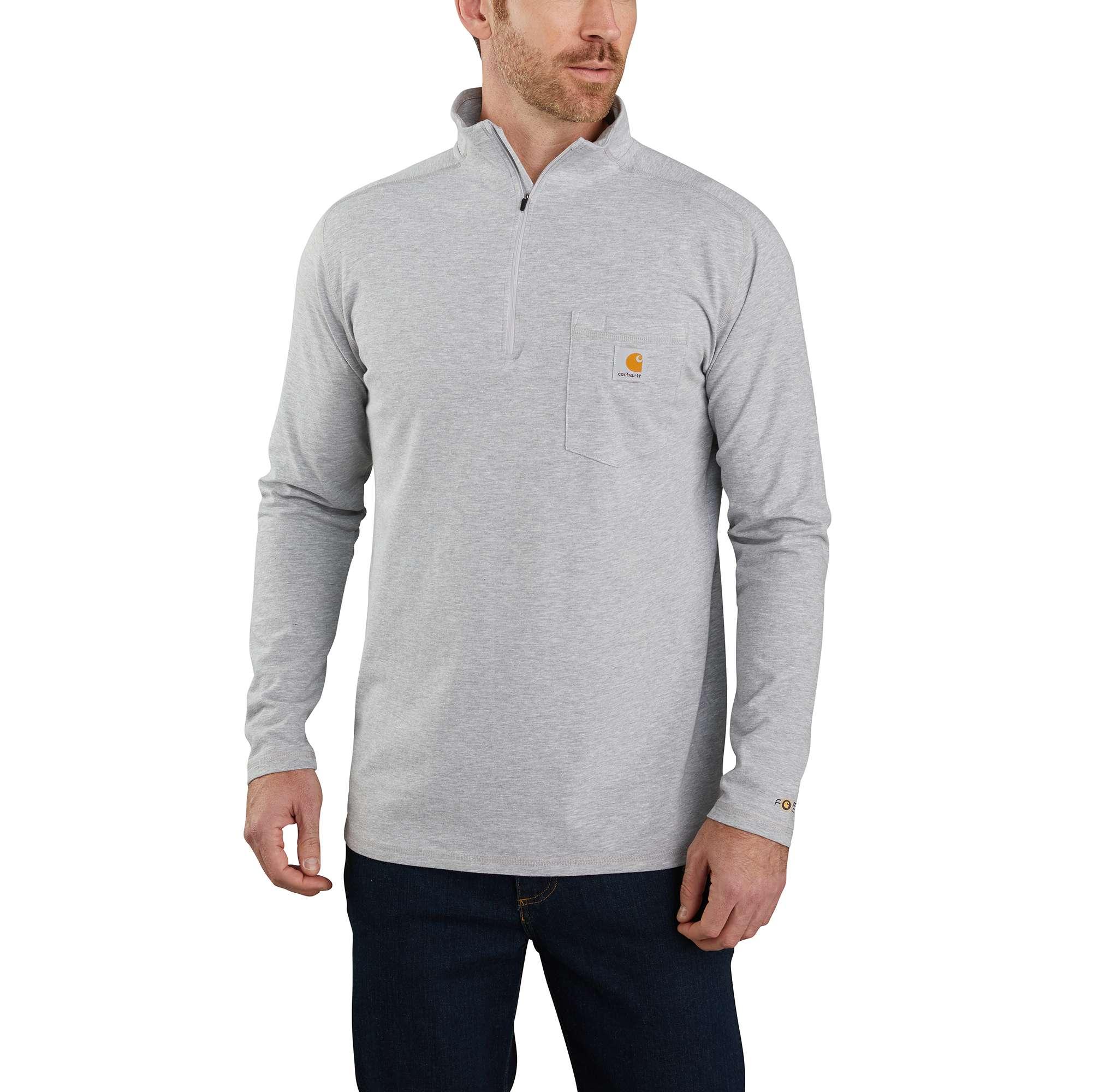 Carhartt Force Relaxed Fit Long-Sleeve Quarter-Zip Pocket T-Shirt