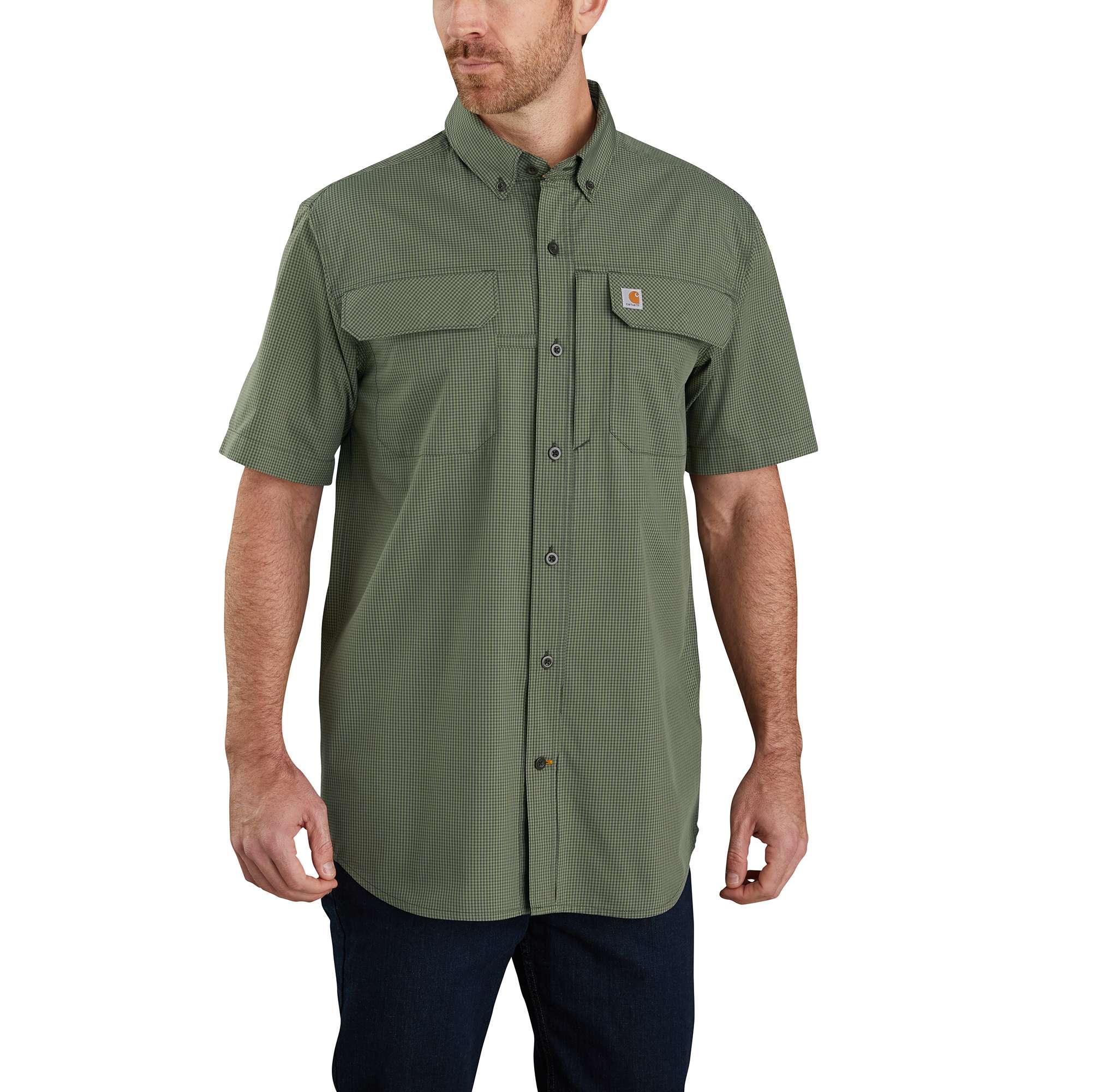 Carhartt Force Relaxed Fit Lightweight Short-Sleeve Button-Front Plaid Shirt