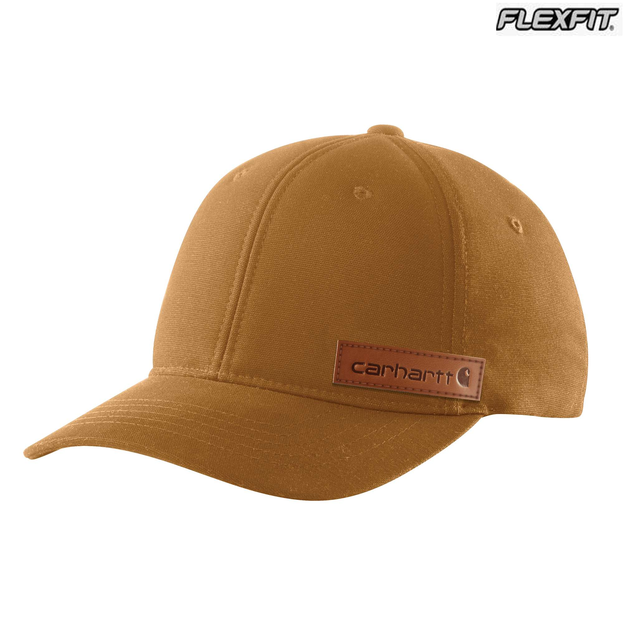 Carhartt Rugged Flex Canvas Full-Back Fitted Logo Graphic Cap