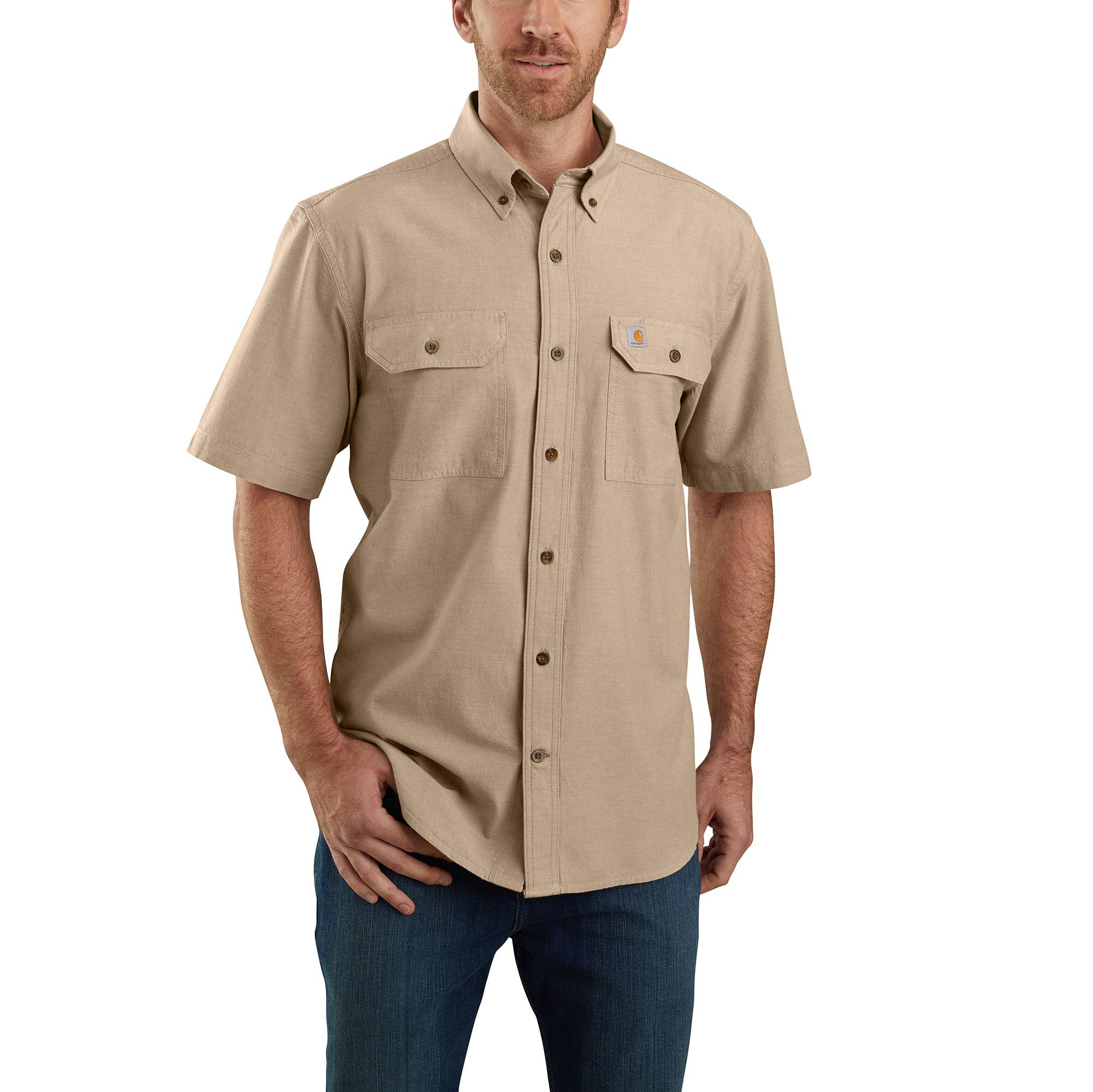 Original Fit Midweight Short-Sleeve Button-Front Shirt