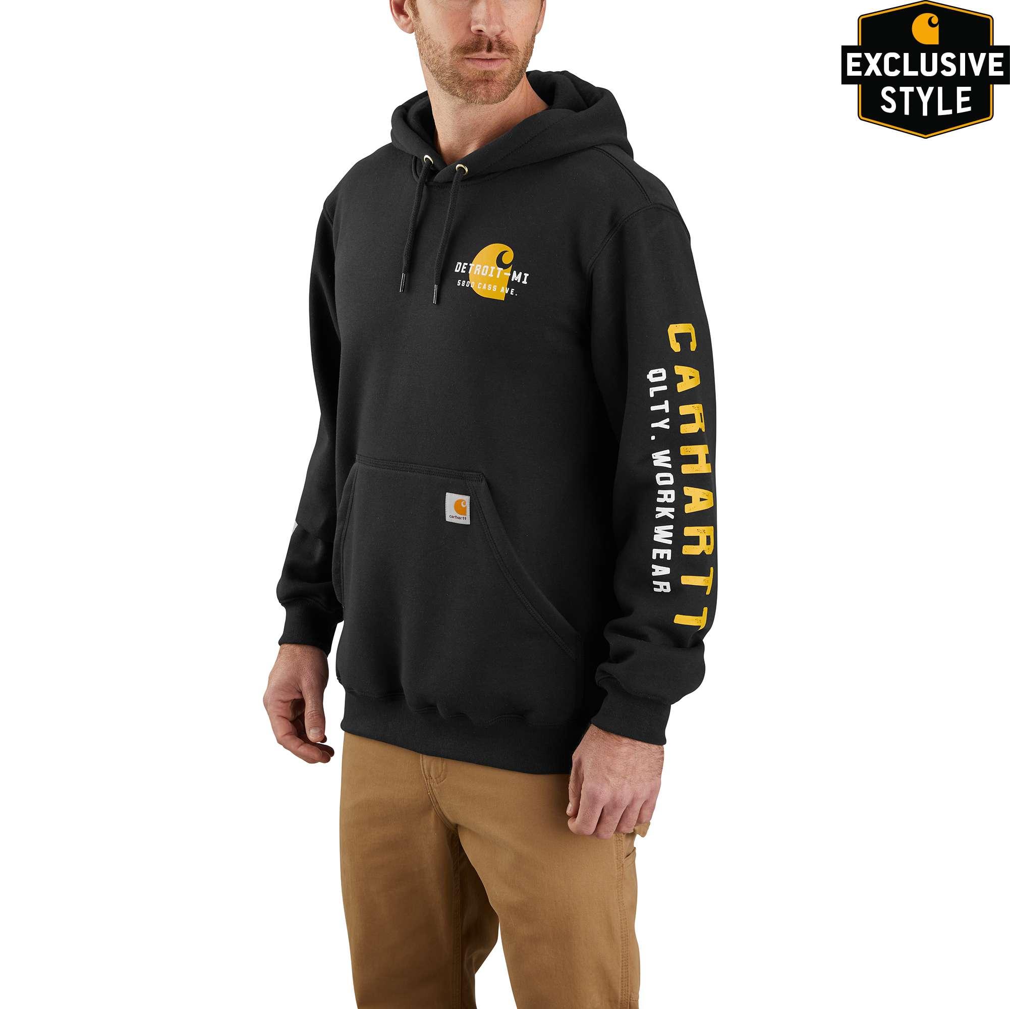 Carhartt Original Fit Midweight Hooded Detroit Graphic Sweatshirt