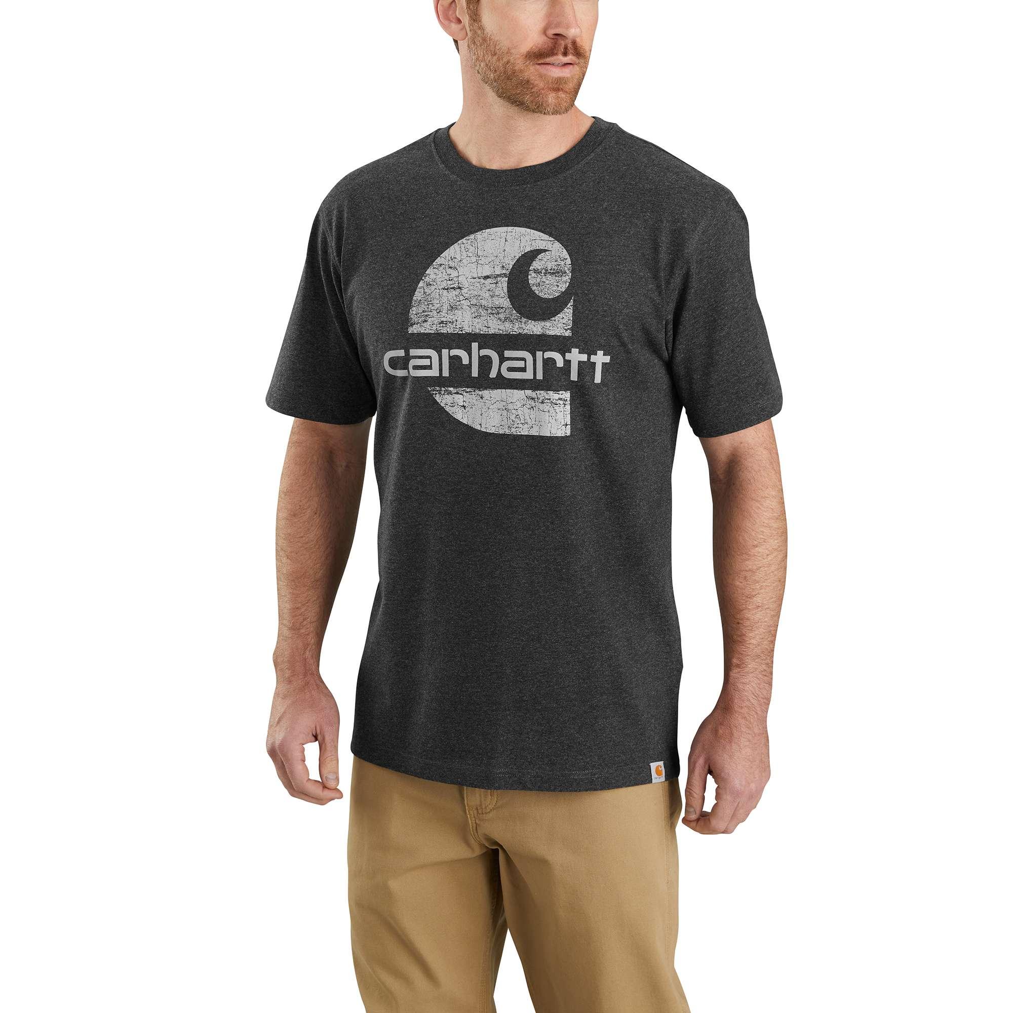 Carhartt Original Fit Heavyweight Short-Sleeve Logo Graphic T-Shirt