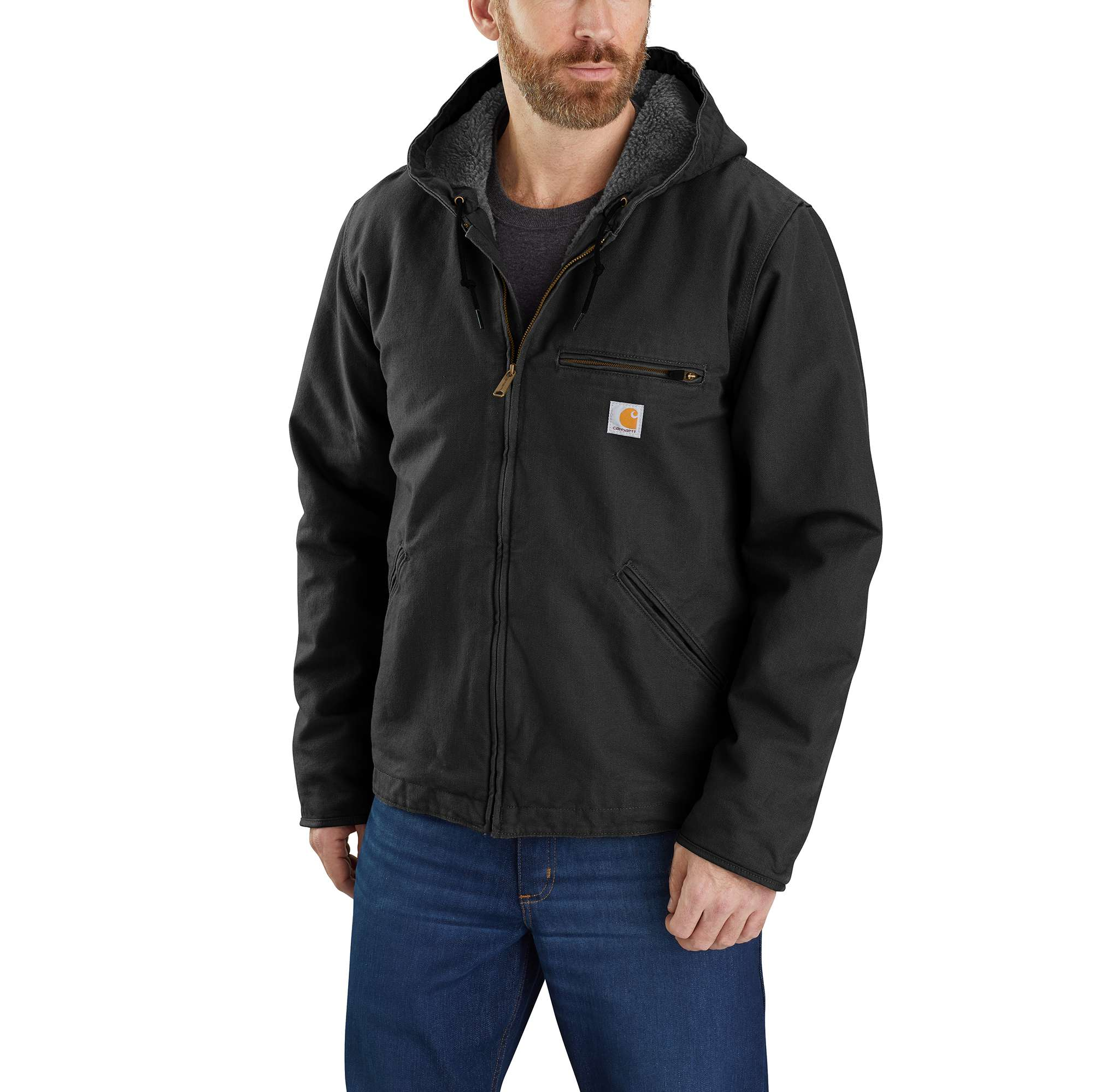 Carhartt Washed Duck Sherpa Lined Jacket