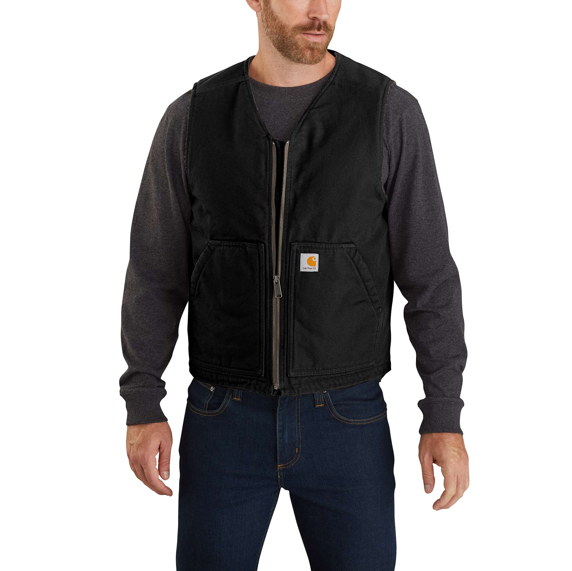 Washed Duck Sherpa Lined Vest
