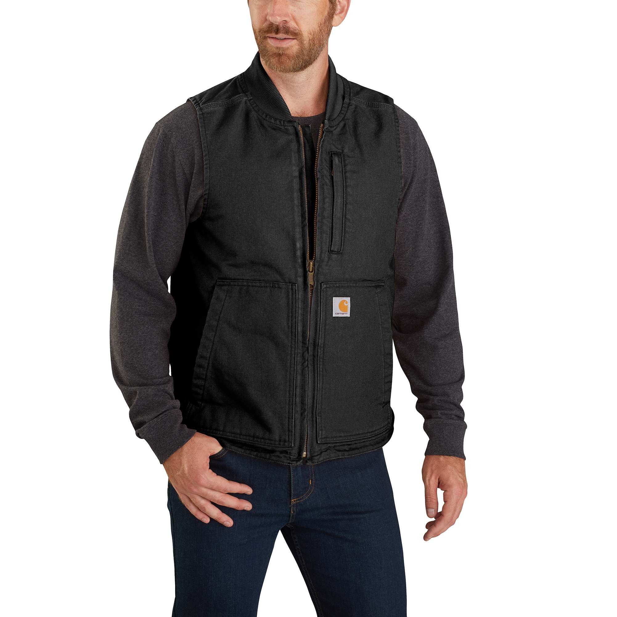 Carhartt Washed Duck Insulated Rib Collar Vest