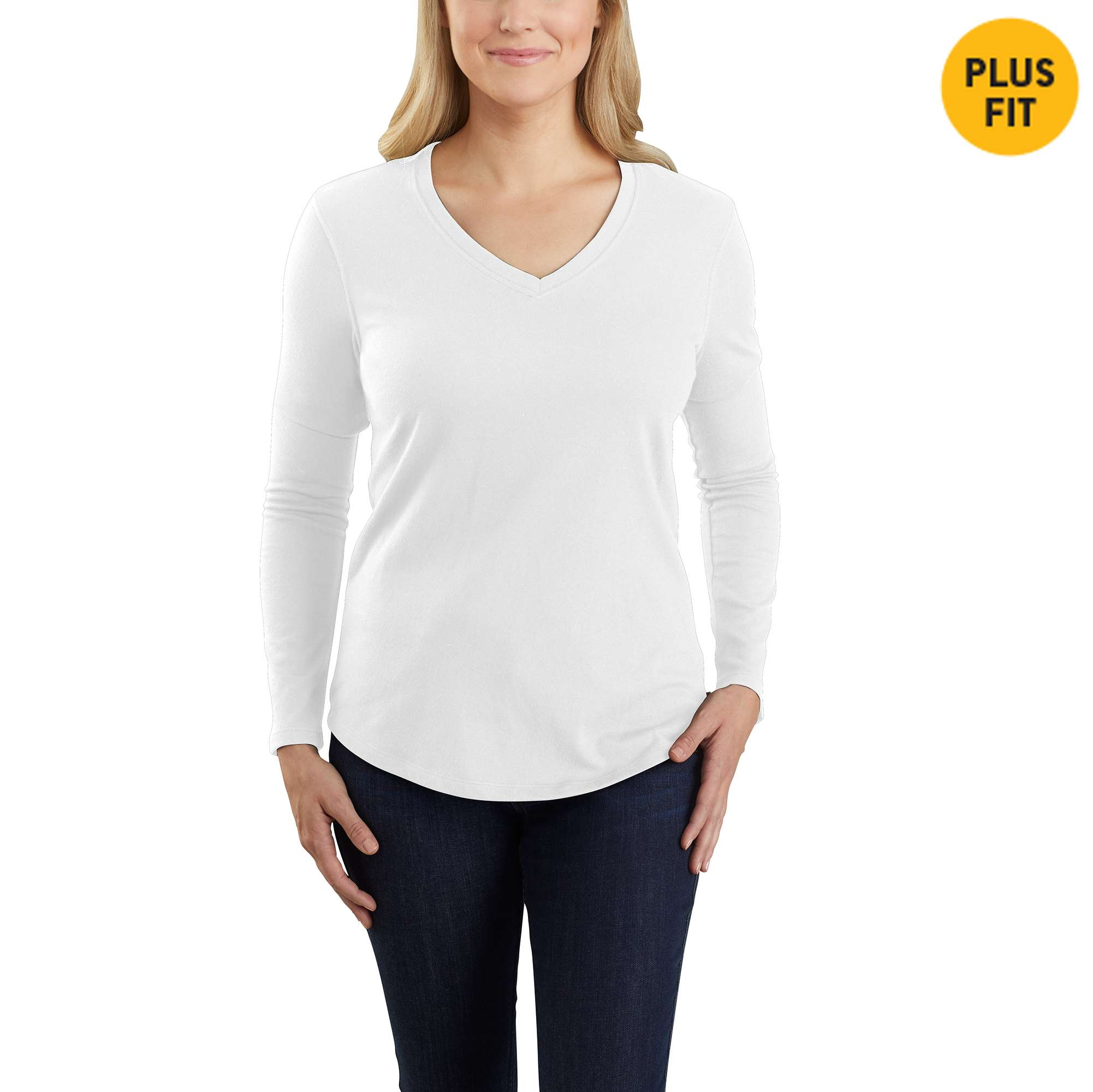 Carhartt Relaxed Fit Midweight Long Sleeve V neck T-Shirt