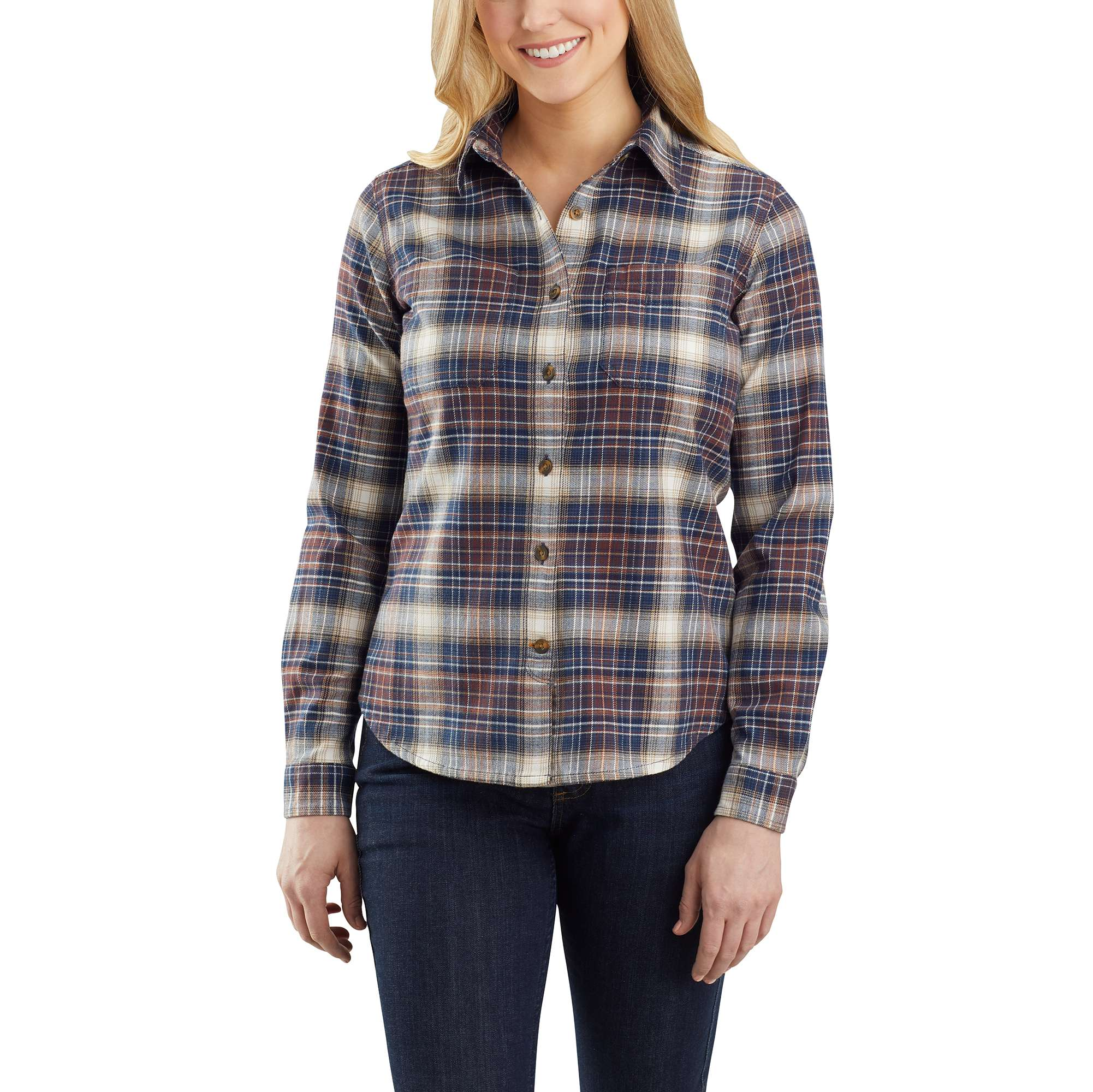 Carhartt Rugged Flex Relaxed Fit Flannel Plaid Shirt