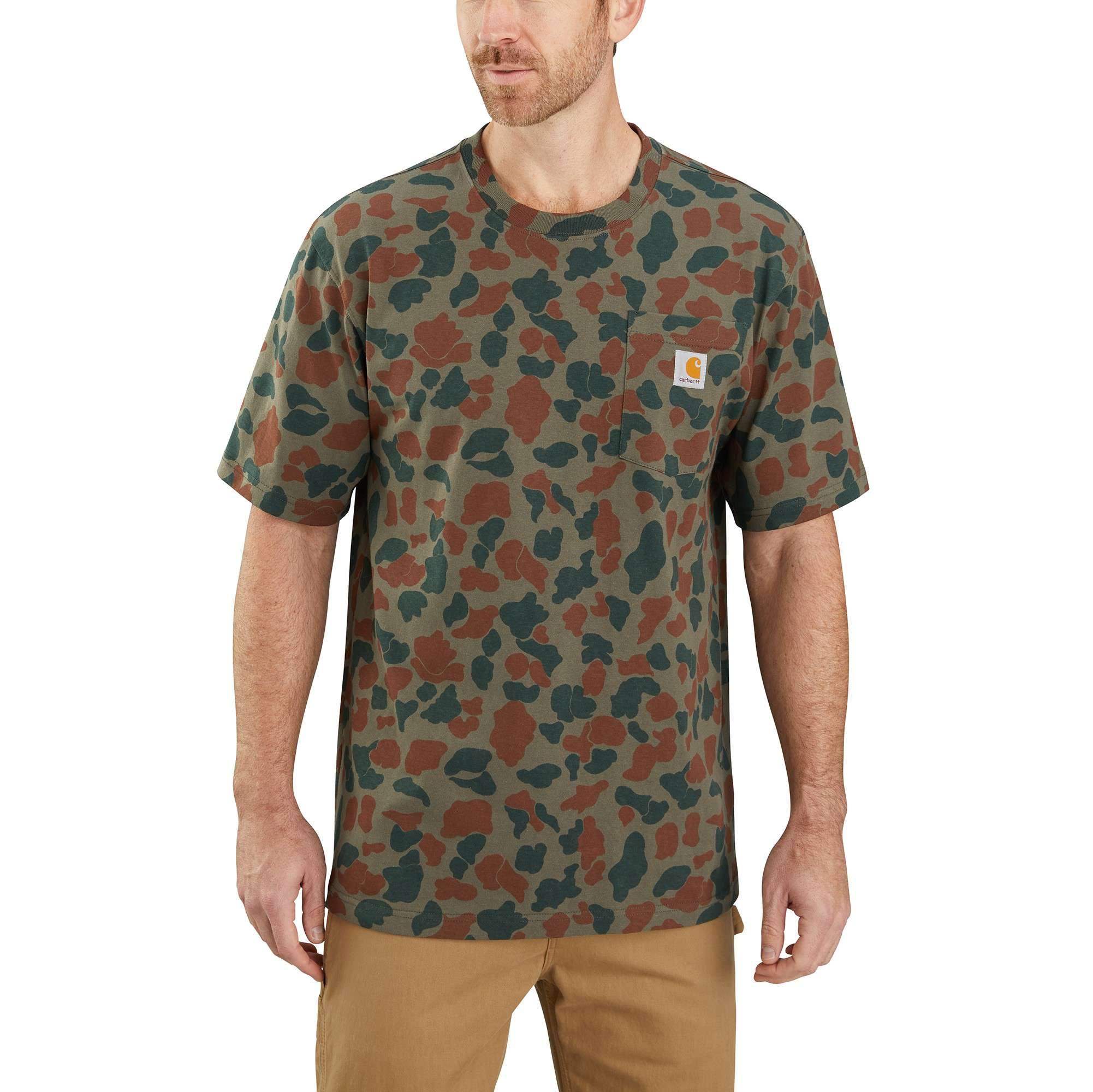 Carhartt Original Fit Heavyweight Short-Sleeve Pocket Logo Camo T-Shirt