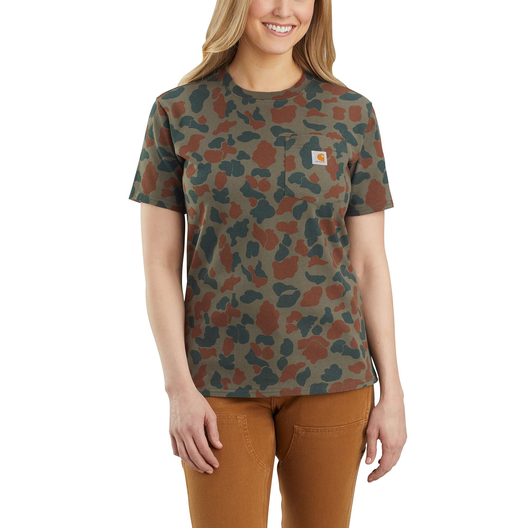 Carhartt Original Fit Heavyweight Short Sleeve Pocket Logo Camo T-Shirt
