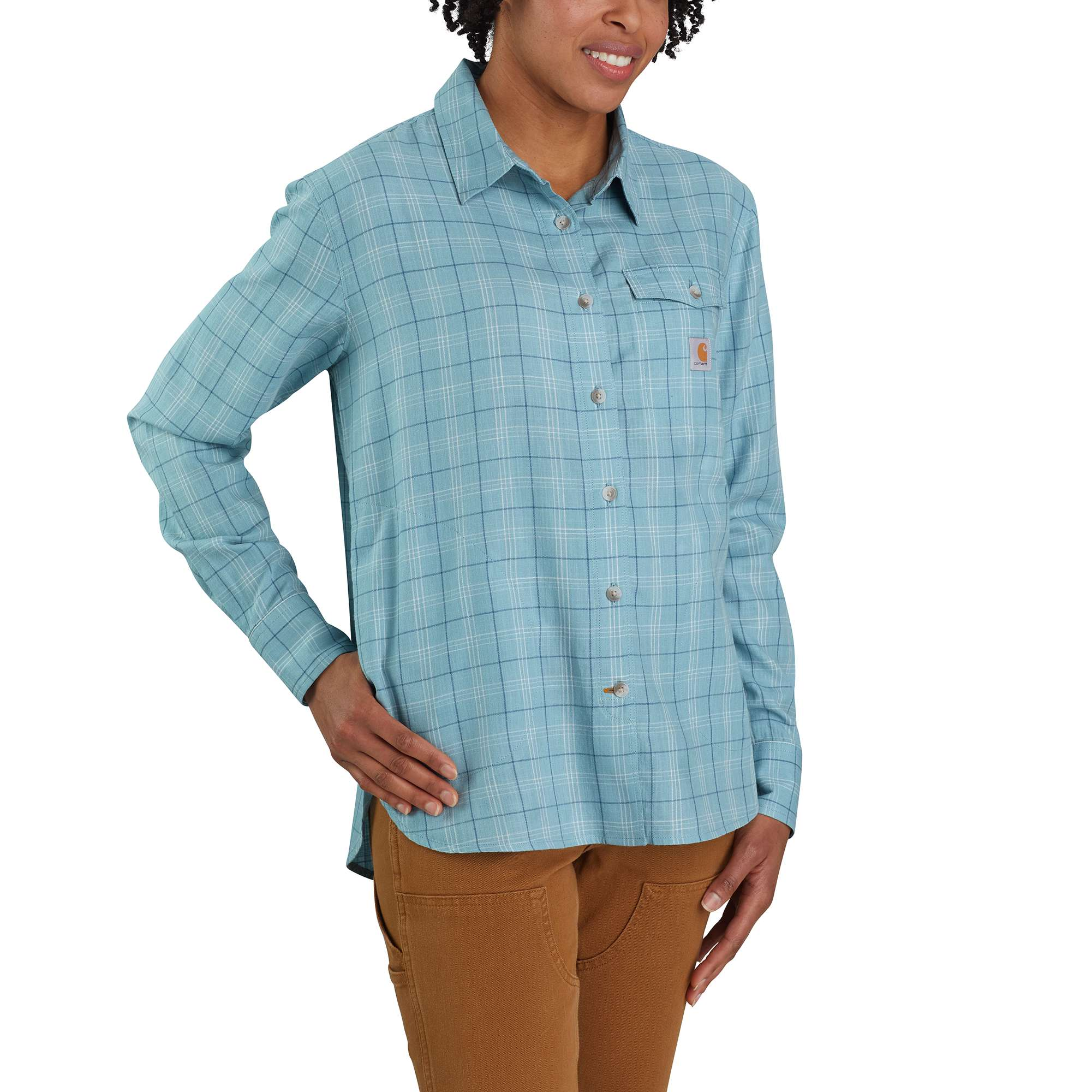 Loose Fit Lightweight Plaid Shirt