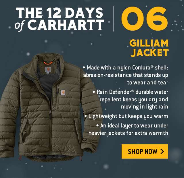 gilliam jacket,  made with a nylon cordura shell: abrasion resistance that stands up to wear and tear