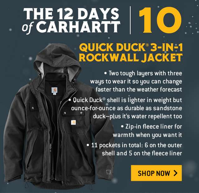 quick duck 3 in 1 rockwall jacket,  two tough layers with three ways to wear it so you can change faster than the weather forecast