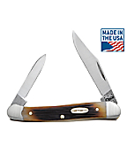 Genuine Bone Molasses  Mini Copperhead Pocket Knife