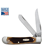 Genuine Bone Molasses  Mini Trapper Pocket Knife