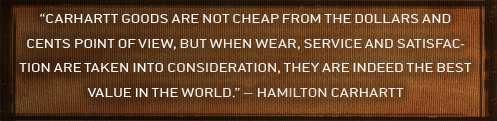 Hamilton Carhartt Quote