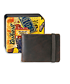 Men's Front Pocket Wallet with Collectible Tin