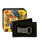 Men's Long Neck Front Pocket Wallet with Collectible Tin