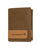 Men's Two-Tone Trifold Wallet with Collectible Tin