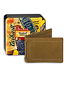 Men's Nubuck Money Clip with Collectible Tin