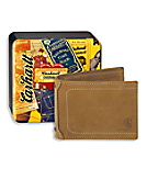 Men's Nubuck Passcase with Collectible Tin