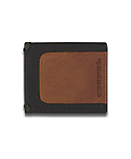 Men's Black & Tan Billfold Wallet