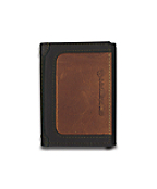 Men's Black & Tan Trifold Wallet