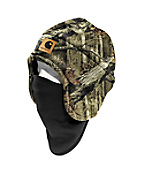 Camo Fleece Hat 2-in-1 Headwear