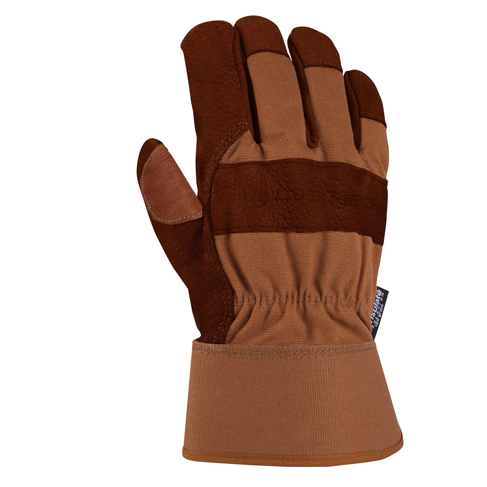 Carhartt Insulated Bison Leather Safety Cuff Work Glove