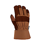 Men's Insulated Bison Leather Work (Safety Cuff) Glove