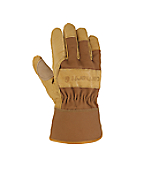 Men's Grain Leather Work Glove (Safety Cuff)