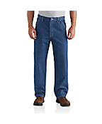 Men's Washed Denim Work Dungaree