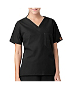 Unisex V-Neck One-Pocket Scrub Top