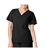 Women's V-Neck Two-Pocket Scrub Top