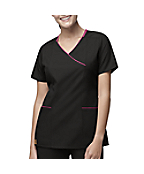Women's Y-Neck Fashion Scrub Top