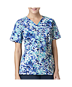 Women's Y-Neck Print Top