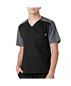 Men's Color Block Scrub Utility Top