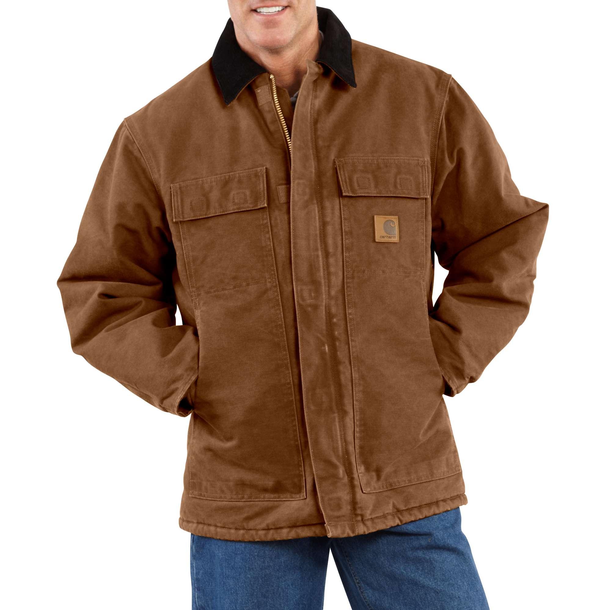 Carhartt Sandstone Traditional Coat / Arctic Quilt Lined | Men | Carhartt