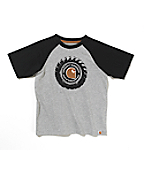 Boys Colorblock Raglan Tee