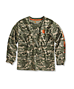 Boy�s Green Camo Logo T-Shirt
