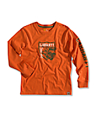 Boy�s Moose Graphic Long-Sleeve T-Shirt