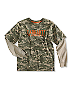 Boy�s Camo Layered T-Shirt